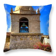 Carmel Mission Throw Pillow by Garry Gay
