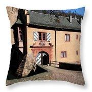 Castle Entrance Throw Pillow