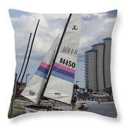 Catamarans Throw Pillow