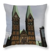 Cathedral Bremen - Germany Throw Pillow