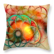 Chain Of Events Throw Pillow by Anastasiya Malakhova