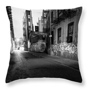 Chinatown New York City - Mechanics Alley Throw Pillow