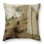 Christ And Mary Magdalene A Finnish Legend Throw Pillow