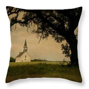 Church On The Plain Throw Pillow