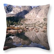 Cirque Of The Towers In Lonesome Lake   Throw Pillow