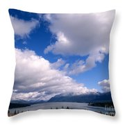 Clouds Over Lake Quinault Throw Pillow