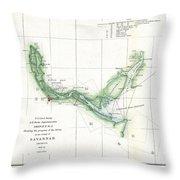 Coast Survey Chart Or Map Of The Savannah River Ans Savannah Georgia Throw Pillow