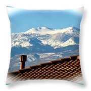Cold Day New Snow Up There Throw Pillow