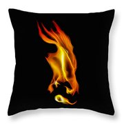 Consumed By Fire Throw Pillow