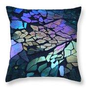 Cut Glass Mosaic  Throw Pillow