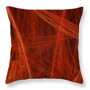 Dancing Flames 1 V - Panorama - Abstract - Fractal Art Throw Pillow