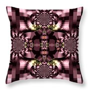 Dark Purple Flowers Abstract Duvet Cover Throw Pillow