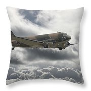 Dc3 Dakota   Workhorse Throw Pillow by Pat Speirs