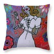 Dia De Los Muertos Nurse Throw Pillow