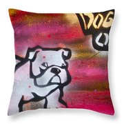 Dogged Out 1 Throw Pillow