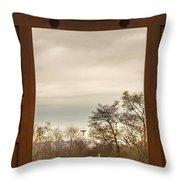 Door With A View Throw Pillow