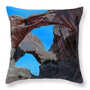 Double Arch - Arches National Park Throw Pillow
