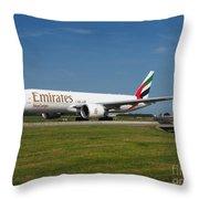 Emirates Boeing 777 Throw Pillow