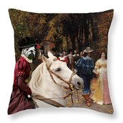 English Bulldog Art Canvas Print - Les Fiances Throw Pillow