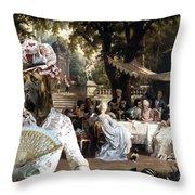 English Mastiff  - Mastiff Art Canvas Print - The Garden Party Throw Pillow