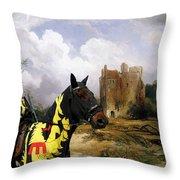 English Mastiff  - Mastiff Art Canvas Print - The Ruins Home Throw Pillow