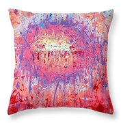 Rich Texture Abstract Painting Throw Pillow