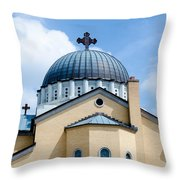Exterior Of  Holy Trinity Gree Throw Pillow