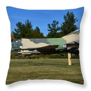 F-4c Phantom II Cang Throw Pillow