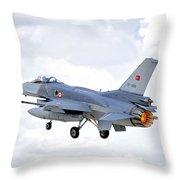 F16 Fighting Falcon Throw Pillow