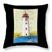 Faulkner Island Lighthouse Ct Nautical Chart Map Art Throw Pillow