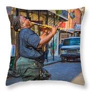 Feel It - Doreen's Jazz New Orleans 2 Throw Pillow