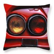 Ferrari Red Throw Pillow