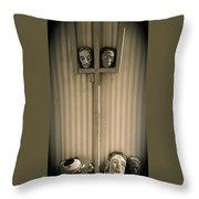 Film Noir Sidney Greenstreet   Mask Of Demetrious 1944 Sid Bruce's Sculptures Black Canyon Az 1991 Throw Pillow