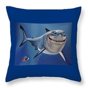 Finding Nemo Painting Throw Pillow