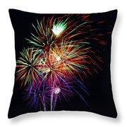 Fireworks Across The Bay Throw Pillow