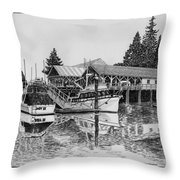 Net Shed Gig Harbor Throw Pillow