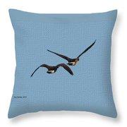 Fleeing Geese Throw Pillow