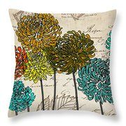 Floral Delight I Throw Pillow