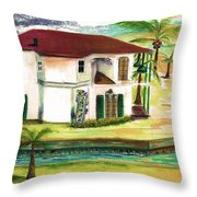 Fort Lauderdale Waterway Throw Pillow