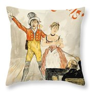 France Paris Poster Of Stage Performance At Cafe Chantant Throw Pillow
