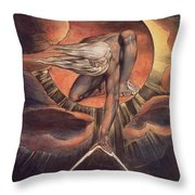 Frontispiece From 'europe. A Prophecy' Throw Pillow by William Blake