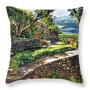 Garden Stairway Throw Pillow by David Lloyd Glover