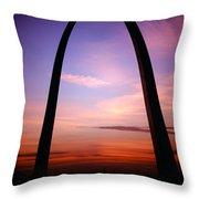 Gateway Arch Sunrise Throw Pillow