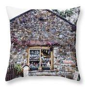 German Stone Cottage Throw Pillow