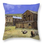 Ghost Town Of Bodie-california Throw Pillow