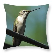 Girl On A Wire Throw Pillow