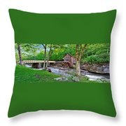 Glade Creek Gristmill Throw Pillow