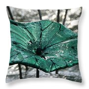 Glass Lily Pad  Throw Pillow