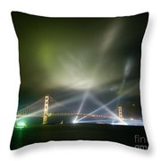 Golden Gate At Fifty Throw Pillow