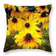 Golden Jerusalem Floral Throw Pillow